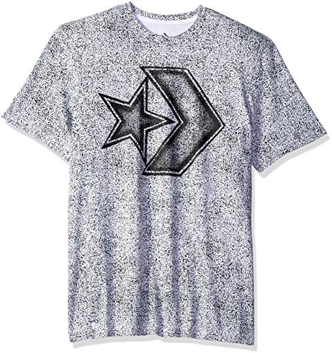 Converse Men's Distressed Star Chevron Short Sleeve T-Shirt, White, S