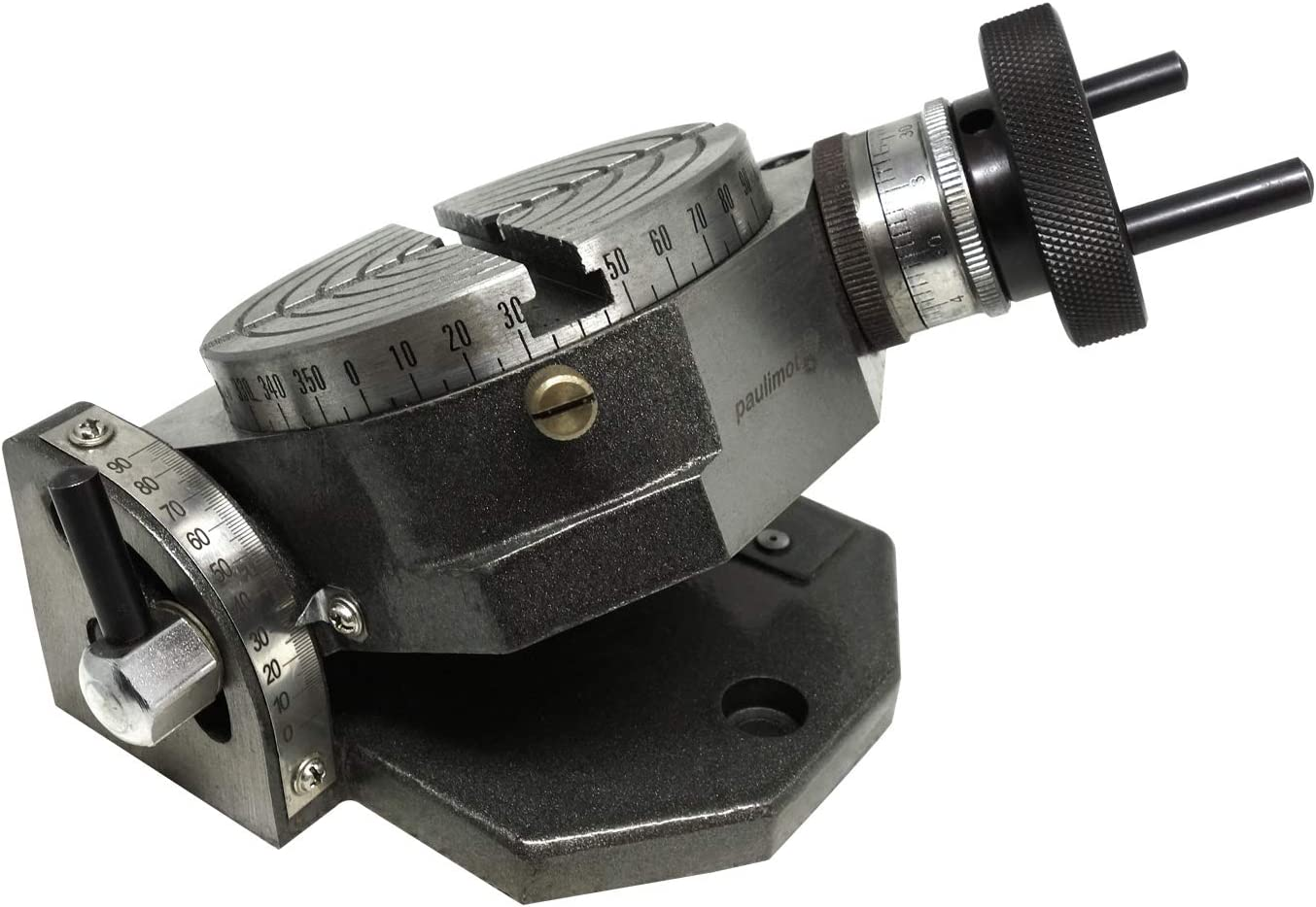vertikal PAULIMOT Teilapparat Rundtisch Ø 100 mm schwenkbar horizontal