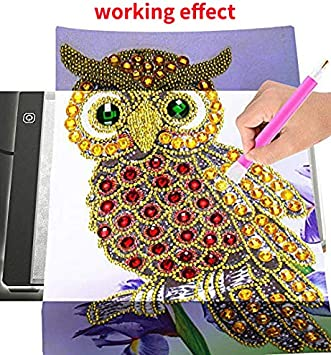 LED Artcraft Tracing Light Pad Light Box for Artists Student Drawing Diamond Painting A5 LED Light Pad Board Tablet Portable Dimmable Brightness Must Have for Paint with Diamonds
