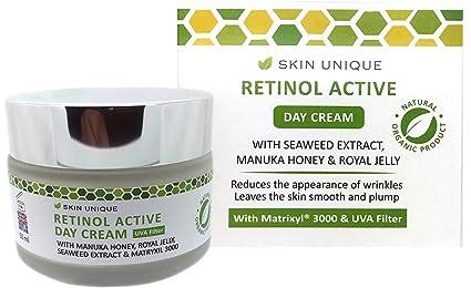 Retinol crema para el día activo 50 ml - Crema hidratante facial anti-envejecimiento natural
