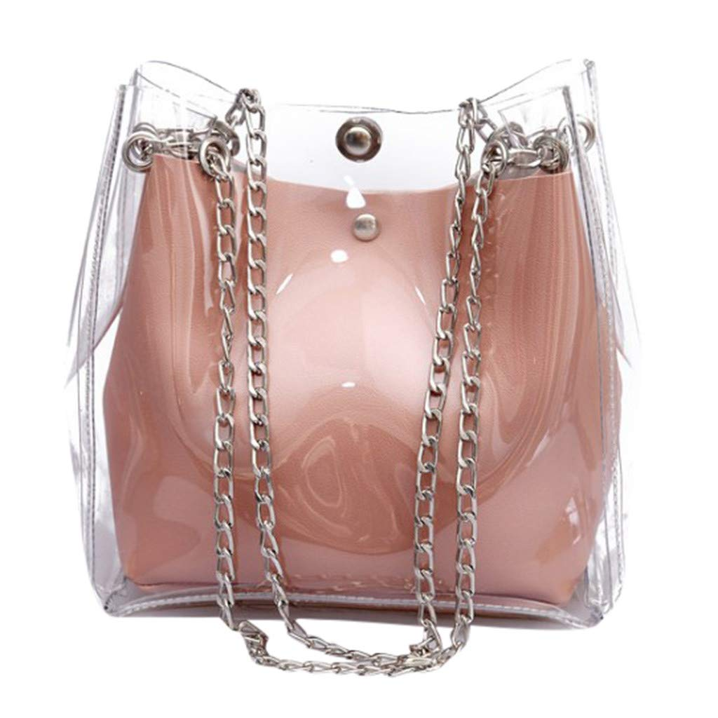 NRUTUP Women Small Transparent Bucket Bags Chain Bag Totes Compound Female Mini Bag Hot Sales