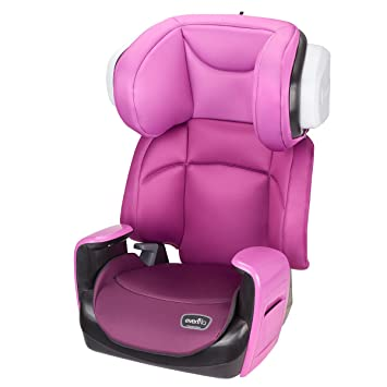 evenflo spectrum 2in1 booster car seat poppy pink