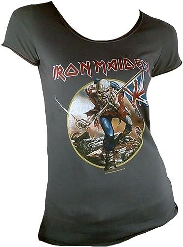La ropa en amplificado para mujer Iron Maiden Troop T-camiseta de manga corta traje de neopreno para mujer de carbón vegetal activo 14 (L): Amazon.es: Ropa y accesorios