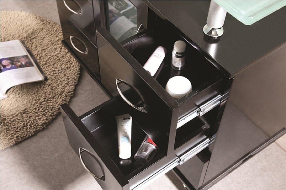 Design Element Huntington Single Drop In Sink Vanity Set With Integrated  Tempered Glass Countertop, 36 Inch   Bathroom Vanities   Amazon.com