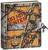"Toys : Peaceable Kingdom Keep Out 6.25"" Lock and Key, Lined Page Diary for Kids"