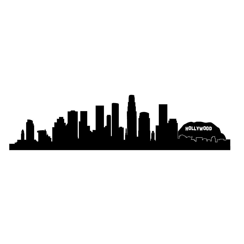 amazon com los angeles skyline silhouette small black vinyl