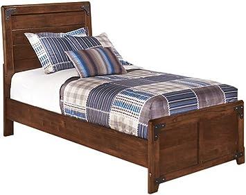 Ashley Furniture Signature Design - Delburne Panel Headboard/Footboard -  Twin Size - Component Piece - Casual Kids Room - Medium Brown