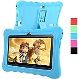 GBtiger L701 Tablet PC para Niños de 7 Pulgadas (Android 4.4, Quad Core 1.3GHz, 512MB RAM + 8GB ROM, Resolución HD de1024 x 600, WiFi, GPS, Bluetooth), Color Blanco con Funda de Silicona Azul