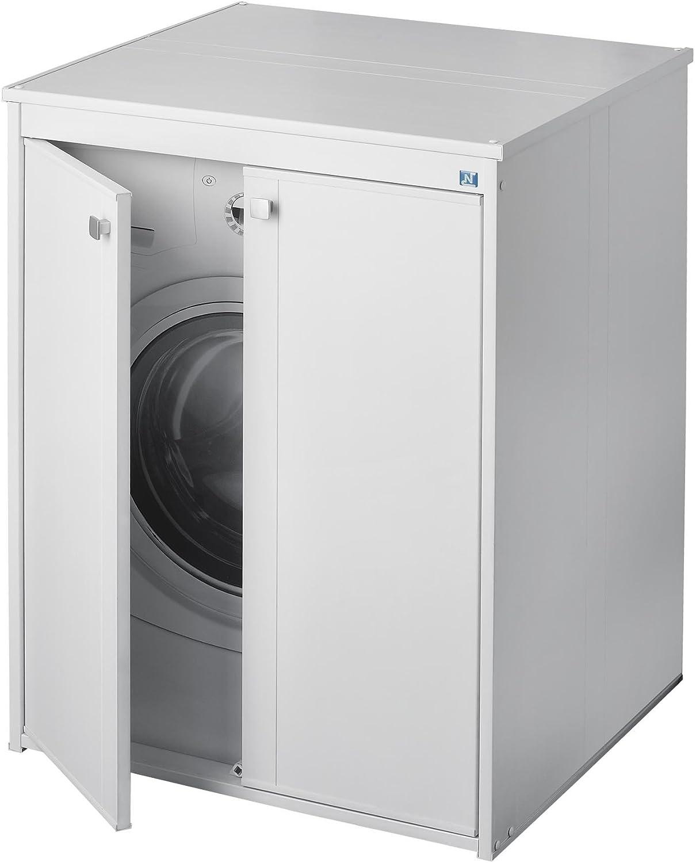 Negrari - Coprilavatrice 5012p móvil en resina al aire libre, blanco, 70 x 60 x 94 cm