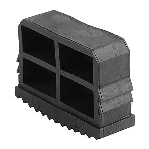 Non Slip Ladder Feet TOPINCN Rubber Replacement Step Ladder Feet Foot Mat Cushion Sole Security Black 2Pcs