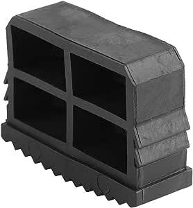 Calcetines de escalera - Caucho antideslizante Pies de escalera Tapón Reemplazo Cubiertas de la pierna Escalera de extensión Dispositivo de seguridad Negro, 2 piezas: Amazon.es: Bricolaje y herramientas