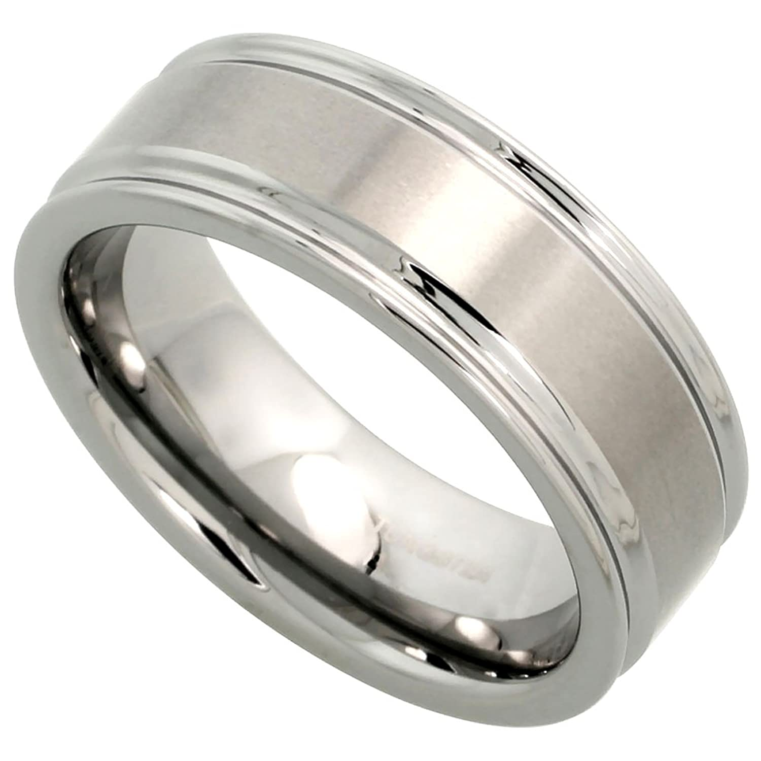 Tungsten Wedding Grooved Brushed Comfort Image 1