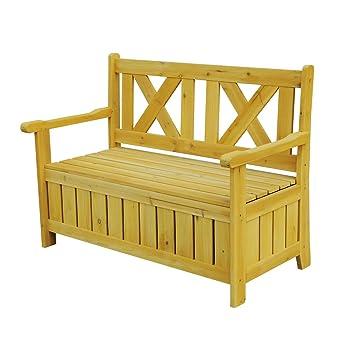 Excellent Amazon Com Brown Wooden Eco Friendly Outdoor Storage Bench Ibusinesslaw Wood Chair Design Ideas Ibusinesslaworg