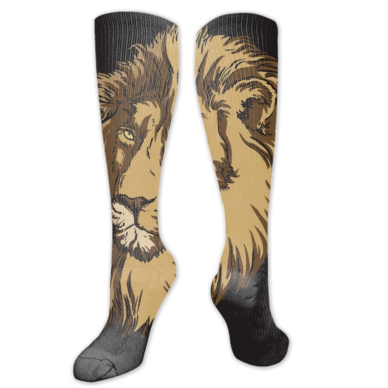 African Animals Digital Painting High Socks Crazy Socks Novelty Socks Unisex