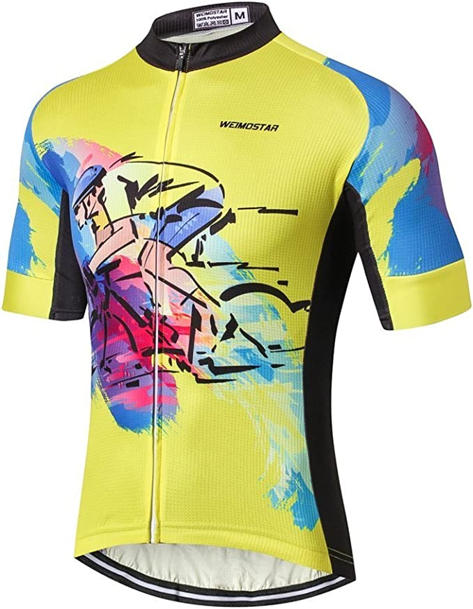 Weimostar Cycling Jersey Shirt Men/'s Breathable Long Sleeve Bicycle Clothing Top