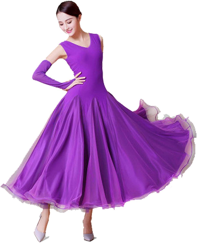 WORD DREAM 社交ダンス衣装 社交ダンスドレス ダンスウェア モダンドレス ダンス 衣装 ガールズ 社交ダンス競技用のドレス スタンダードドレス GTR065T  Medium
