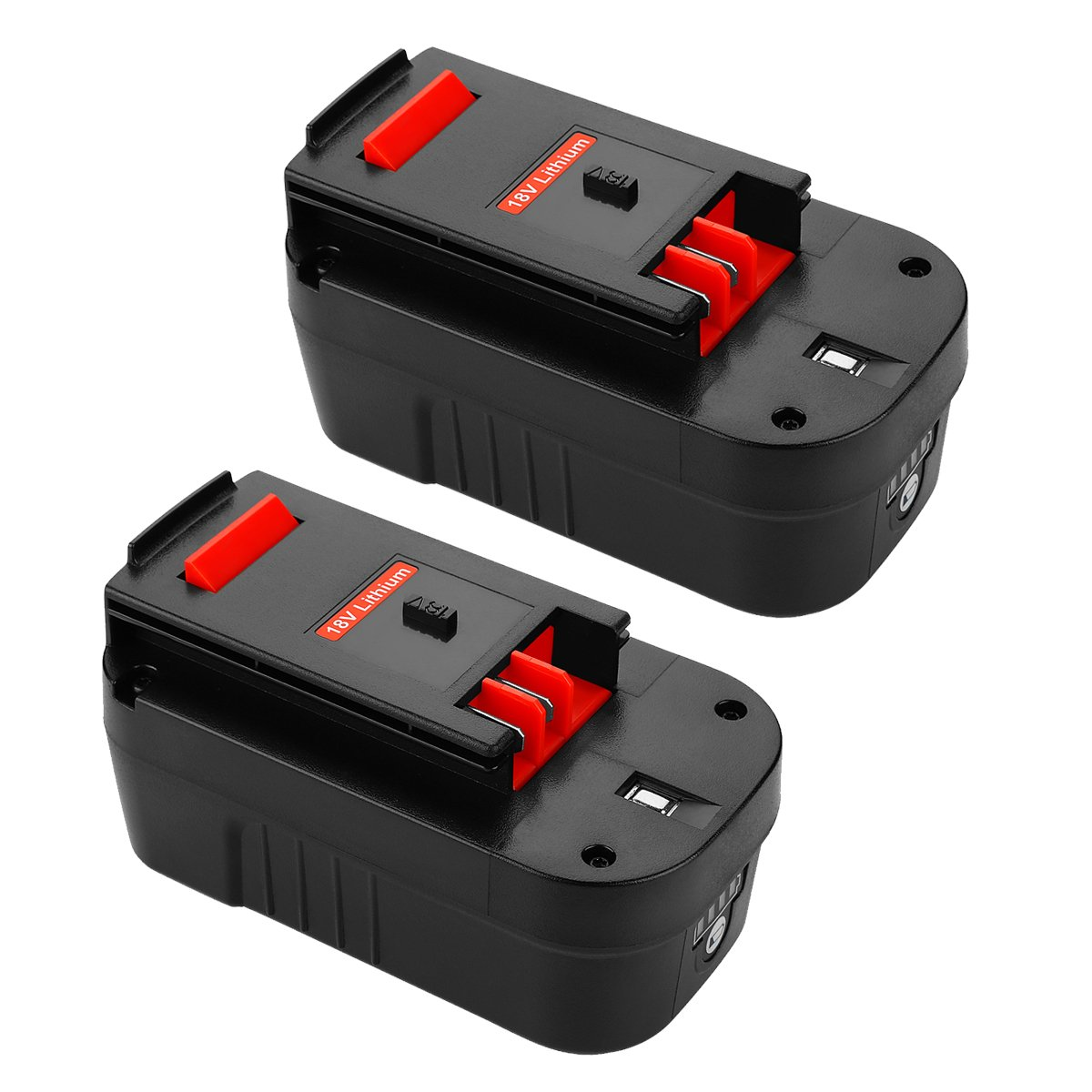 ANTRobut Replacement for Lithium-ion 3000mAh 18V Battery for black & decker 18V battery HPB18 HPB18-OPE 244760-00 A1718 FS18FL FSB18 Firestorm Black and Decker 18 Volt Batteries (2 Pack) by ANTRobut