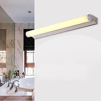 FEI LED Badezimmerspiegel Licht Edelstahl-LED-Spiegel-vordere ...