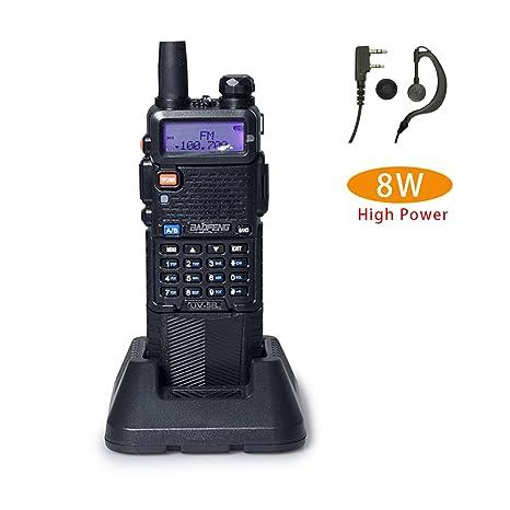 Baofeng UV-5R+ High Power 8/4/1W 3800mAh Two Way Radio Dual Band Ham Radio  Transceiver(Black)