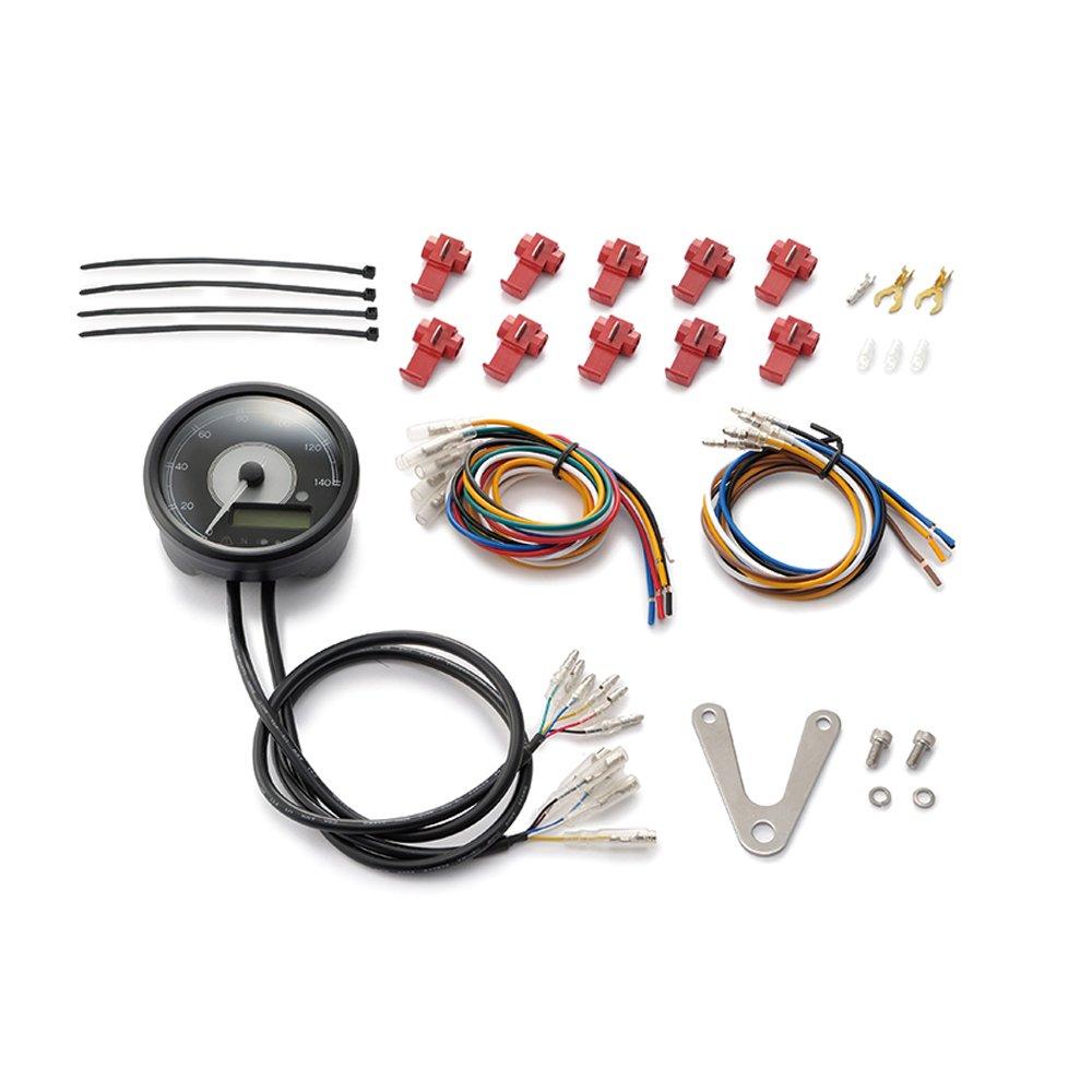 DAYTONA(デイトナ)VELONA 電気式スピード&タコメーター φ80 140km/h ステンレスボディ ホワイトLED 95954   B072KZDM8C