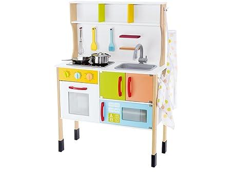 Junior Spielküche aus Echtholz für Mädchen Kinderküche Kinder Spiel ...