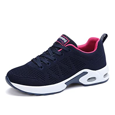 check out b3c43 9fa72 MIMIYAYA Femme Homme Air Baskets Chaussure de Running Sport Baskets de Sports  Gym Fitness Course Sneakers