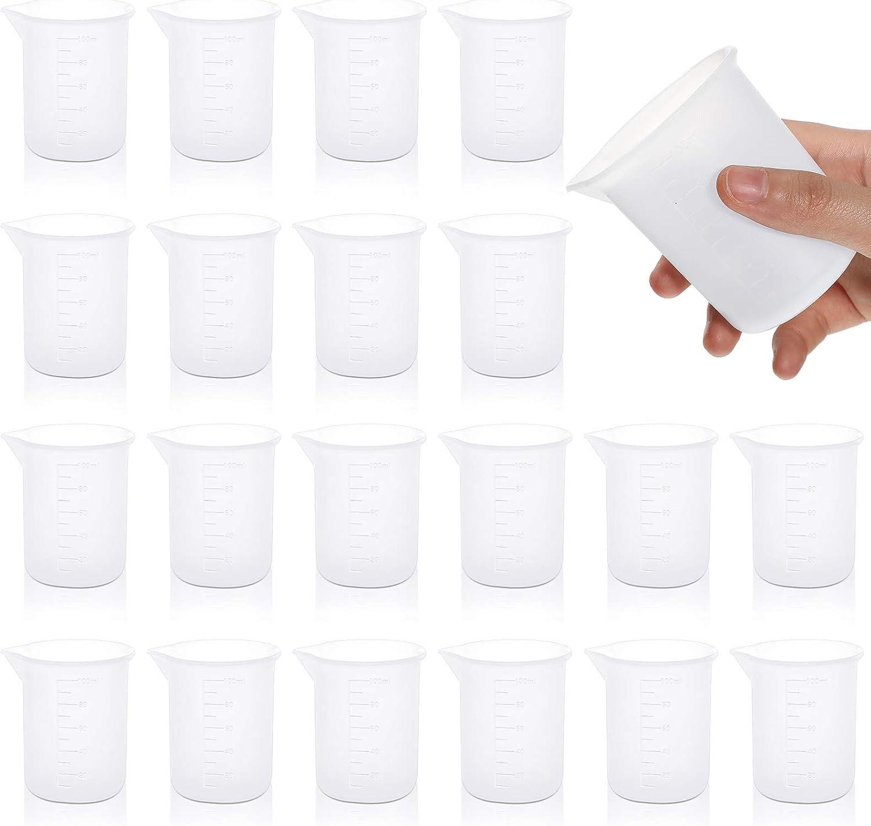 20 tazas medida p/ mezclar antiadherente resina epoxi 100 ml
