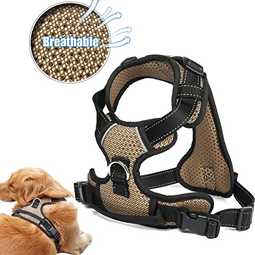(TORNAQUI Front Range Dog Harness No-Pull Adjustable, Reflective Material Straps, Breathable Harness)