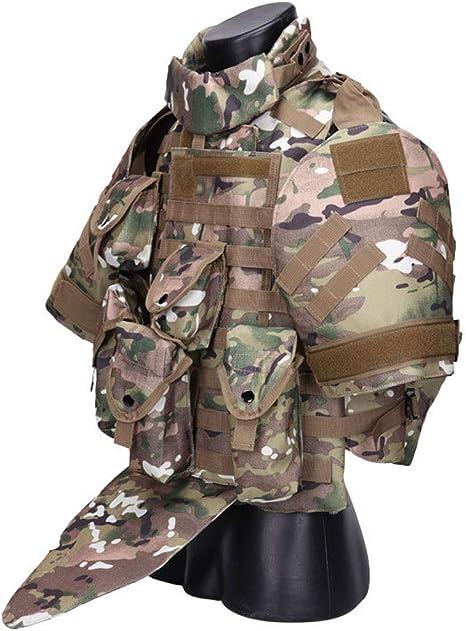 Expansion Alpinisme ext/érieur | /équipement de Terrain Molle Camouflage ACU Gilet de Combat Sportif JU FU Gilet Tactique
