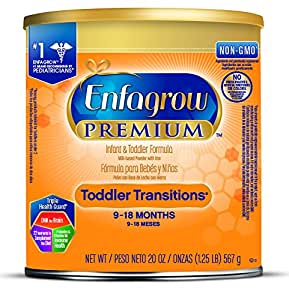 Enfagrow PREMIUM Toddler Transitions Formula Powder, 20 Ounce Can