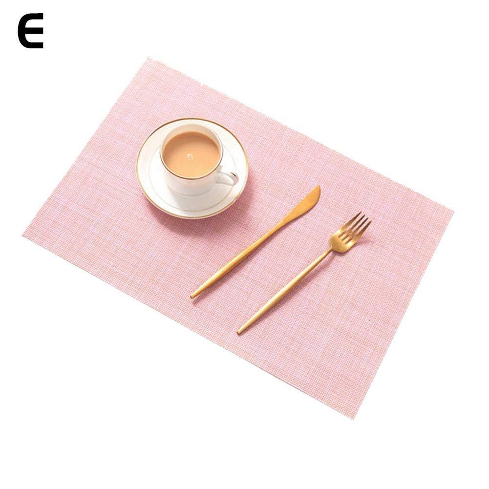 Outtybrave Lot de 4/Sets de Table /étanche /épais r/ésistant /à la Chaleur Sets de Table Couleur Solide antid/érapant Lavable Sets de Table Bleu Ciel