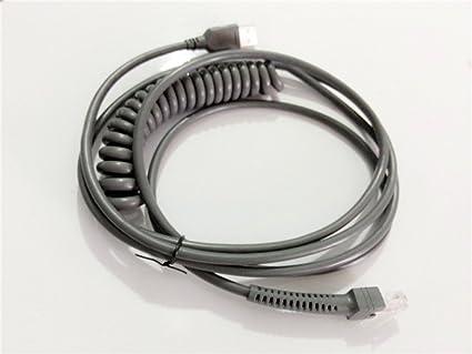 Symbol Ls2208 Usb Cable Spiral Extension Cable 3mtr Motorola