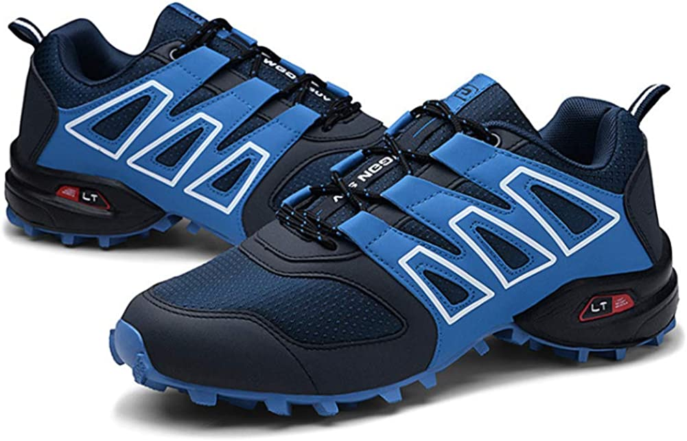 SELCNG Hiking Shoes Outdoor Non-Slip Running Shoes wear Large Size Walking shoes-blue-43