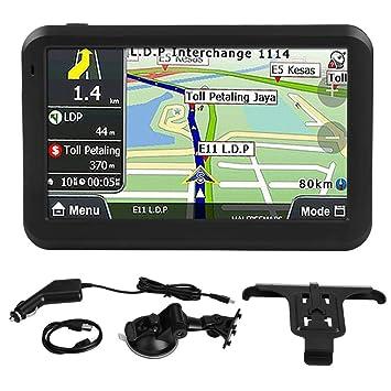 EBTOOLS Navegador GPS Universal del Coche, 5-inch Pantalla Táctil SDRAM 256MB 8GB RAM Con clip trasero para la mayoría de los Autos: Amazon.es: Coche y moto