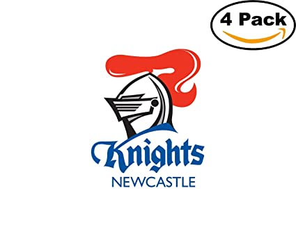 Rugby newcastle knights logo 4 stickers 4x4 inches car bumper window sticker decal