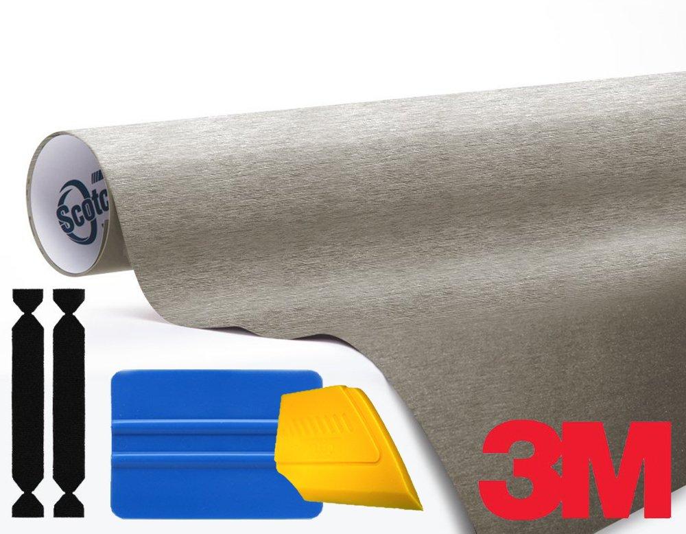 3M 1080 Brushed Titanium Air-Release Vinyl Wrap Roll 1//2ft x 5ft VViViD
