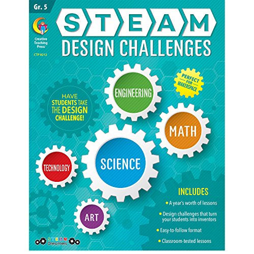 Creative Teaching Press STEAM Design Challenges Resource Book, Gr. 5, CTP (8212)