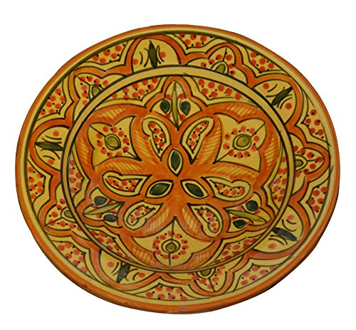 - Ceramic Plates Moroccan Handmade Appetizer Tapas Serving Decorative 8 inches Round