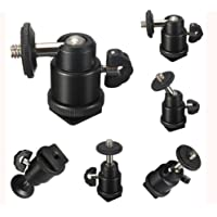 "SHOPEE BRANDED Multi Purpose Adjustable Swivel Angle Ball 1/4"" Mini Tripod Ball Head Kit Shoe mount adapter holder for all DSLR camera STAND F.LCD MONITOR D2C"