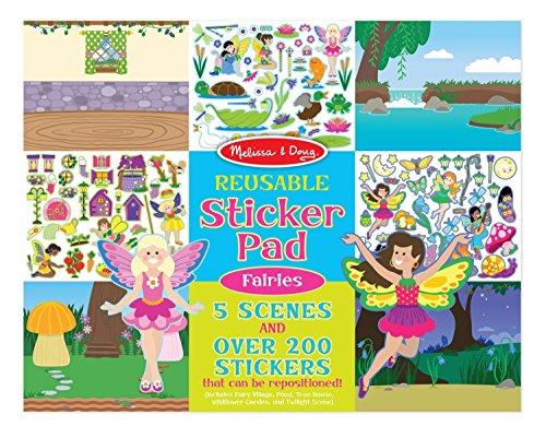 Melissa & Doug Reusable Sticker Pad: Fairies - 200+ Stickers