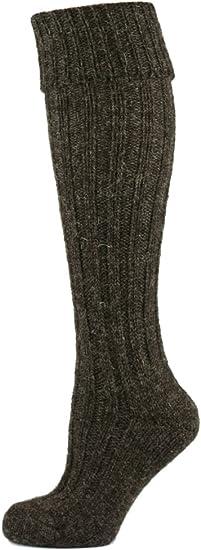 Mysocks/® Knee High Irish Jacob Sheep Wool Socks Made in Ireland