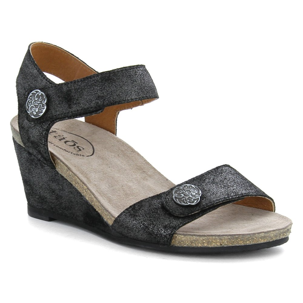 Taos Footwear Women's Festival Sandal,Charcoal Metallic Full Grain Leather,EU 41