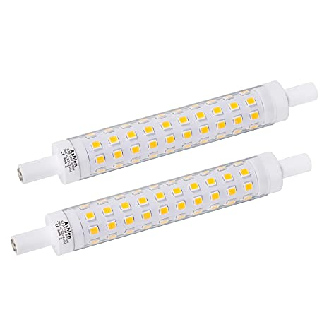 Azhien LED R7S 118mm Lampe 10W nicht dimmbar,J118 Lineare Leuchtmittel Warmweiß 3000K, 10 Watt, entspricht 48W 60W 75W Haloge