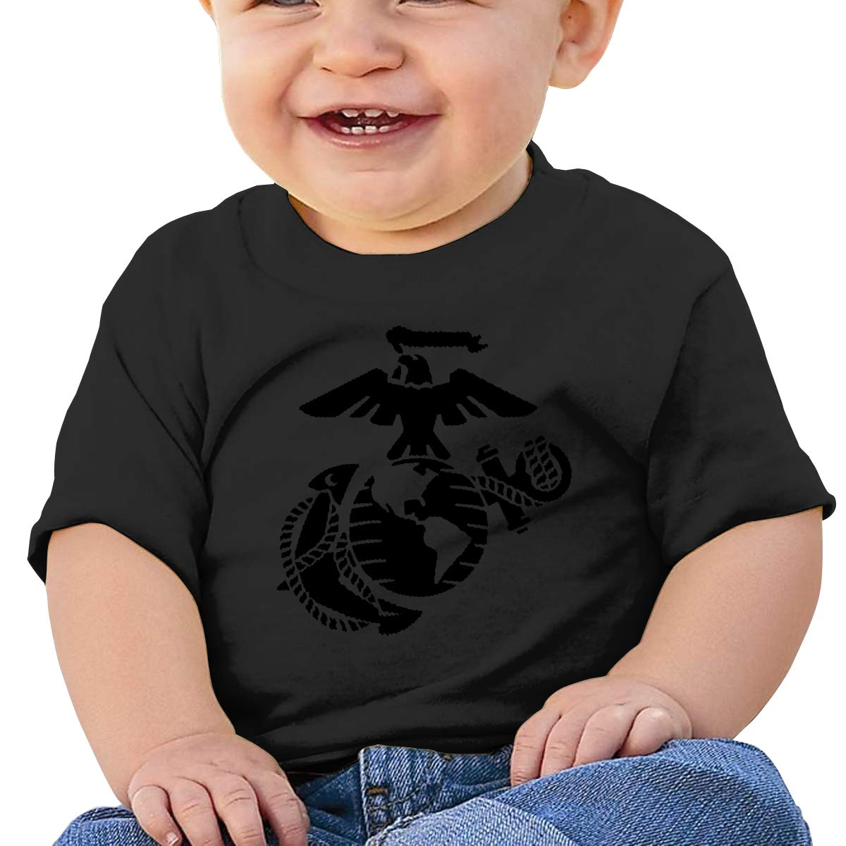 USMC United States Marine Corps Toddler Short-Sleeve Tee for Boy Girl Infant Kids T-Shirt On Newborn 6-18 Months
