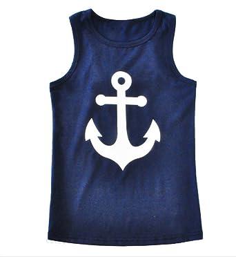 38c9b7086f9ca Amazon.com  BCSY Girls Mommy   Me Racerback Anchor Tank Tops  Clothing
