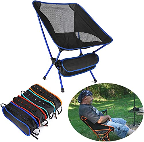jinshiband Outdoor Ultralight Portable Folding Chairs with Carry Bag Heavy Duty 30lbs Capacity Camping Folding Chairs Beach Chairs for Beach Outdoor Picnic Travel Hiking Sky Blue