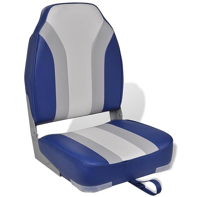 Folding Boat Seat Waterproof Fishing Sunbathe High Backrest Marine Boat Chair