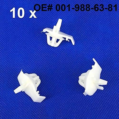 Fastener & Clip 10Pcs for Mercedes-Benz 001-988-63-81 Quarter Panel Moulding -