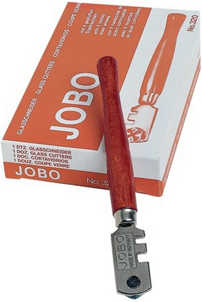Glasschneider JOBO rundes Holzheft