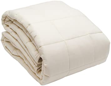 Amazon.com: Naturepedic Organic Cotton Quilted Topper with Straps